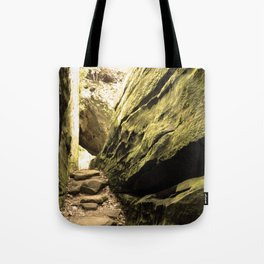 Sepia Giant City State Park Tote Bag