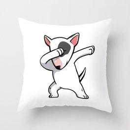 Funny Dabbing English Bull Terrier Dog Dab Dance Throw Pillow