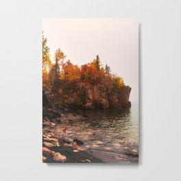 Black Beach in Minnesota-North Shore of Lake Superior  Metal Print