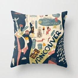 Beautiful Vancouver Throw Pillow