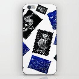 Animal stamp pattern iPhone Skin