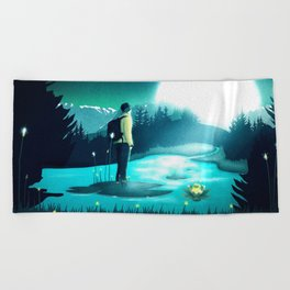 Lost in the Moment Beach Towel