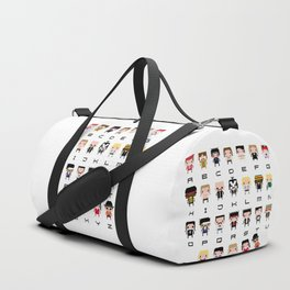 Rock Music Alphabet Duffle Bag