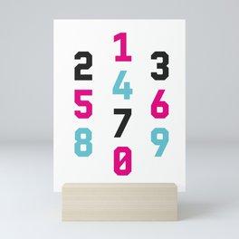 Typography Numbers #1 Mini Art Print