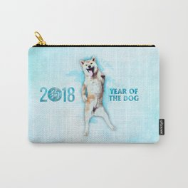 Happy New Year of the dog 2018  - Funny  Akita Carry-All Pouch