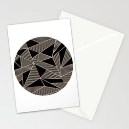 Geometric Abstract Origami Inspired Pattern Stationery Cards