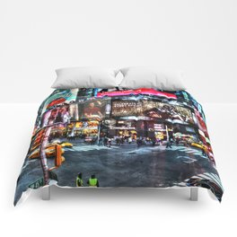 Times Square New York Comforters