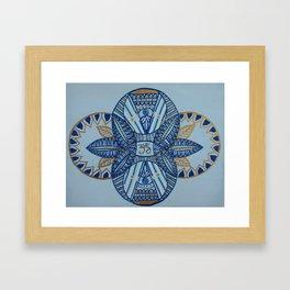 Om Balance Framed Art Print
