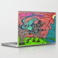 llama Laptop & iPad Skins featuring Llama by Gregree