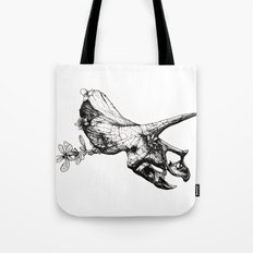 Jurassic Bloom - The Horned. Tote Bag