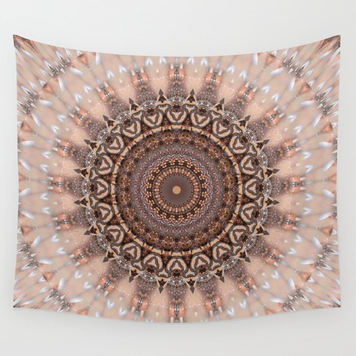 Mandala Romantic Pink Wall Tapestry By Christinebssler