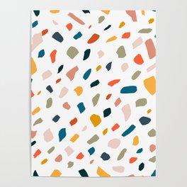 Terrazzo #pattern #illustration #Terrazzo Poster