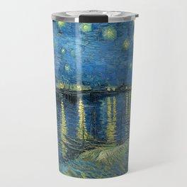 Starry Night Over the Rhône by Vincent van Gogh Travel Mug