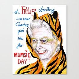 Mumsie in a onesie Canvas Print