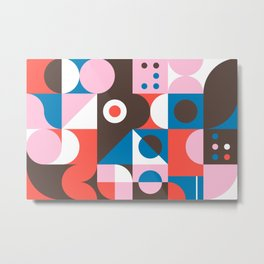 Abstract Geometric Composition 010 Metal Print