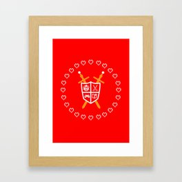 Crest of Nerdom Framed Art Print