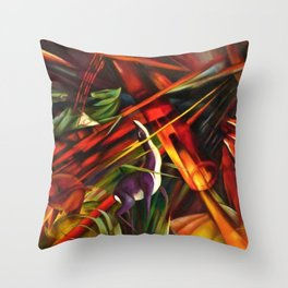 Black Forest Scene, Germany by Franz Marc Throw Pillow