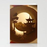 china Stationery Cards featuring China by Anastassia Elias