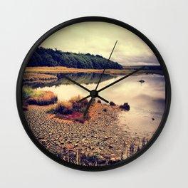 Autumn on the Creek Wall Clock
