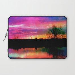Watercolor January Texas Sunrise Laptop Sleeve