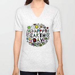 Happy Earth Day Unisex V-Neck