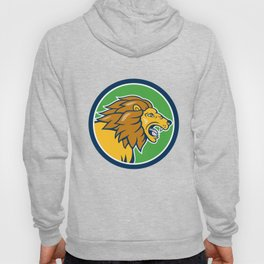 Angry Lion Head Roar Circle Cartoon Hoody