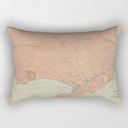 Vintage Map of Brooklyn NY (1902) Rectangular Pillow