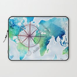 Watercolor map Laptop Sleeve