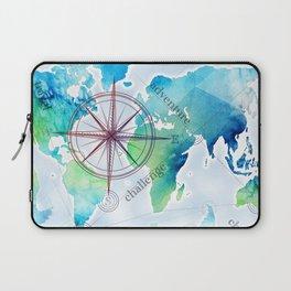 Watercolor map Laptop Sleeve