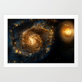 Starry Galaxy Night Art Print
