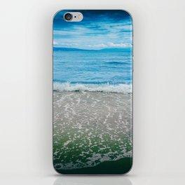Summer time, sea, beach, sand, waves. iPhone Skin
