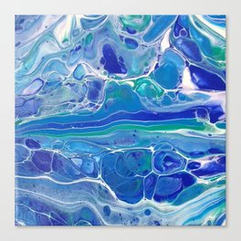 Swipe. A blue and White Abstract Canvas Print