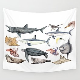 Marine wildlife Wall Tapestry