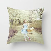 dorothy Throw Pillows featuring Dorothy by Malice of Alice