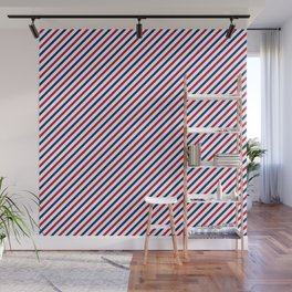 Stripes print in USA flag colors Wall Mural