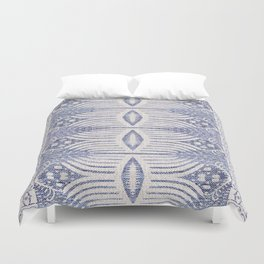 FRENCH LINEN TRIBAL IKAT Duvet Cover