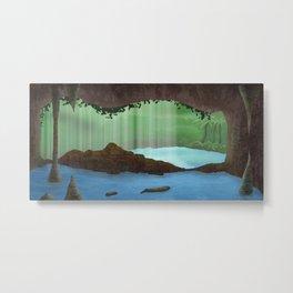 Puerto Rico Waterfall Cave Metal Print