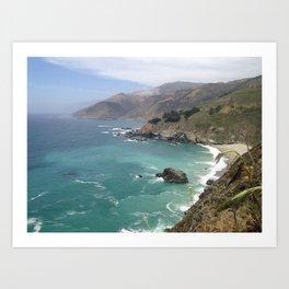 Big Sur Cali waters Art Print