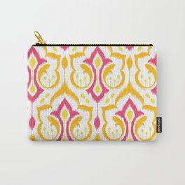 Ikat Damask - Berry Brights Carry-All Pouch