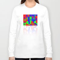 leah flores Long Sleeve T-shirts featuring Flores by DARWIN STEAD