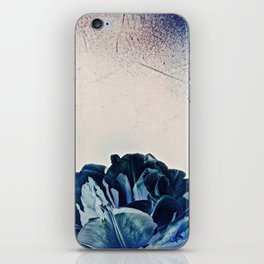 Blue Tulip- Scratched And Grungy iPhone Skin