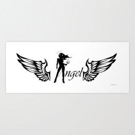 Angel Diabla Art Print