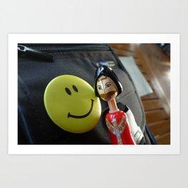 Smile Girl Art Print