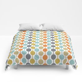 Retro Circles Mid Century Modern Background Comforters