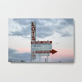 For Sale at the Salton Sea Metal Print