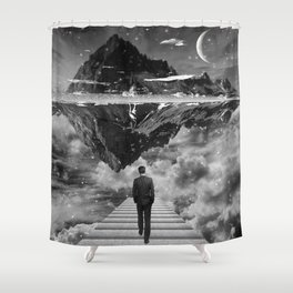Black & White Collection -- Wandering Shower Curtain