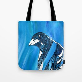 Magpie Blues Tote Bag