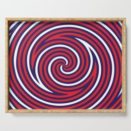 Hypnose. Red Serving Tray