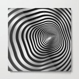 Square wormhole (b/w) Metal Print