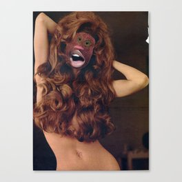 Redheaded Step Child  - Vintage Collage Canvas Print